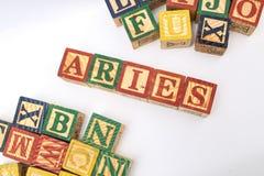 Ordningen av bokstäver bildar ett ord, version 134 Arkivbild