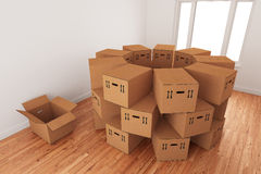ordningen boxes tomt emballage Royaltyfria Foton