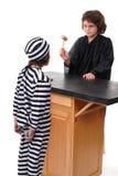 Ordnung im Gericht Stockfotos