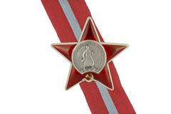 Ordnungen der UDSSR. Ordnung des roten Sternes. Lizenzfreie Stockfotografie