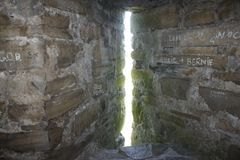 Ordnungs-Schloss-Fenster stockfoto
