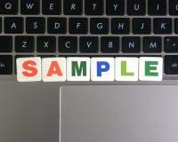 Ordprövkopia på tangentbordbakgrund royaltyfri fotografi