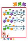 Ordre coloré, musique Images libres de droits