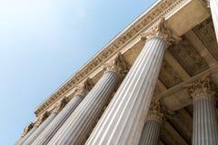 Ordre composé des colonnes grecques de style Images libres de droits