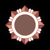 Ordre d'étoile de bronze d'icône de récompense de médaille Photos stock
