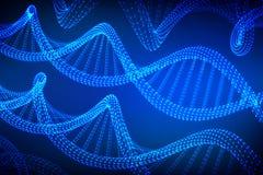 Ordre d'ADN Maille de structure de molécules d'ADN de Wireframe Calibre editable de code d'ADN Concept de la science et technolog