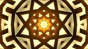 ordre de bouclage coloré du kaléidoscope 4K des modèles d'or banque de vidéos
