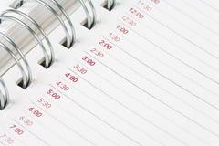 Ordre du jour de calendrier Photos stock