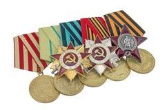 Ordre soviétique de la grande guerre patriotique Photographie stock