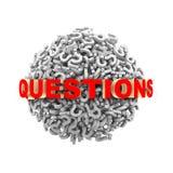 ordsfär för frågor 3d Royaltyfri Bild