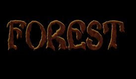 Ordskog på en svart bakgrund Arkivfoto