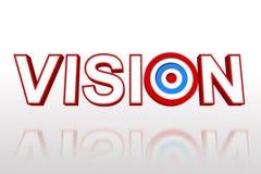 Ordvisionen med målet Arkivbild