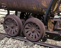 Ore Cart. Old rusted ore cart used for mining stock image