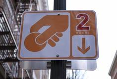 2 ore che parcheggiano segno immagini stock libere da diritti
