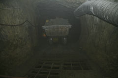 Ore chute. All the ore is sent down this underground chute to a underground crusher before being sent to the crushers on surface Stock Images