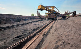 Ore conveyor Royalty Free Stock Photo