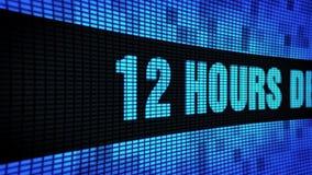 12 ore della mandata del testo di scorrimento LED della parete di pannello dell'esposizione di bordo del segno video d archivio