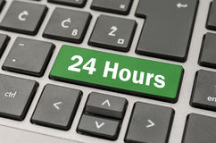 24 ore di bottone Fotografia Stock