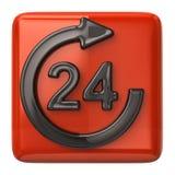 24 ore di icona di servizio di assistenza al cliente Fotografie Stock Libere da Diritti