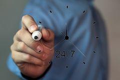 24 ore di servizio Fotografie Stock Libere da Diritti