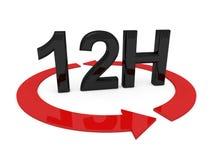 12 ore di servizio Immagini Stock Libere da Diritti