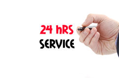 24 ore di servizio di concetto del testo Fotografia Stock
