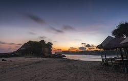 Ore dorate in spiaggia di Klayar Immagine Stock Libera da Diritti