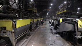 Ore-dressing and processing enterprise stock footage