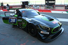 12 ore Hankook Mugello 18 March 2017: #38 MS Racing, Mercedes AMG GT3. Royalty Free Stock Photo