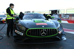 12 ore Hankook Mugello 18 March 2017: #38 MS Racing, Mercedes AMG GT3. Royalty Free Stock Photos