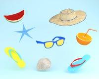 Ore legali degli accessori di modo alla moda su backg pastello blu Fotografia Stock
