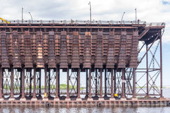 Ore Loader in St. Louis  Bay at Duluth  docks Stock Photography