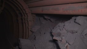 Ore Mine in close-up. Underground mine iron ore and coal stock video