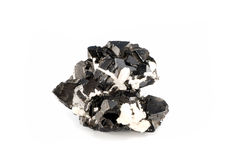 Ore mineral. Isolated on white Royalty Free Stock Image