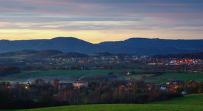 Ore Mountains foothills Stock Images