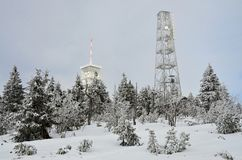 Ore Mountains Klinovec  Czech Republic in winter Stock Image