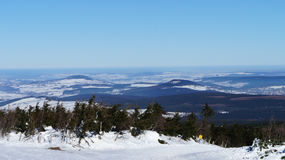The Ore Mountains in winter Royalty Free Stock Photos