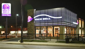 Ore a tarda notte di Taco Bell Fotografia Stock Libera da Diritti