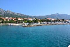 Orebic镇在克罗地亚,欧洲 库存照片