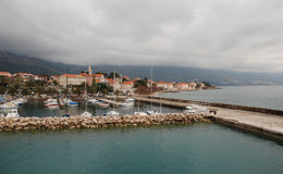 Orebic Хорватия с Мариной Стоковые Изображения