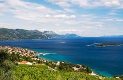 Orebic Kroatië stock afbeeldingen