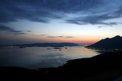orebic panorama- sikt Arkivfoton