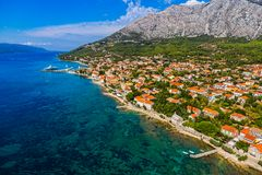 Orebic town in Croatia Royalty Free Stock Photography