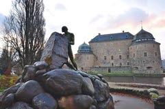 orebro Швеция narke городища замока средневековое Стоковое фото RF