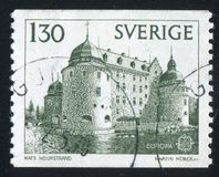 Orebro Castle. SWEDEN - CIRCA 1978: stamp printed by Sweden, shows Orebro Castle, circa 1978 royalty free stock images