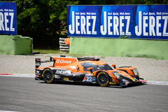 Oreca Sports Prototype in action royalty free stock images
