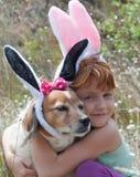 Orecchie dei coniglietti di pasqua Fotografie Stock Libere da Diritti