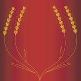 Orecchie del frumento per la vostra salute. Vettore Fotografia Stock Libera da Diritti