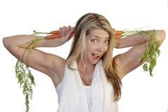 Orecchie della carota Fotografie Stock