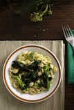 Orecchiette with Cime di Rapa. (Rapini), a Traditional Dish from Apulia (Southern Italy stock images
